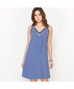 ANNE WEYBURN | Платье С Вышивкой 100 Хлопок