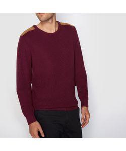 R édition | Пуловер Из Хлопка В Рубчик Высокий Воротник Вставки На Плечах