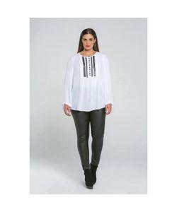 Mat Fashion | Блузка Однотонная С V-Образным Вырезом С Длинными Рукавами
