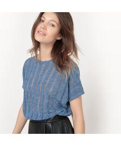 R studio | Пуловер С Круглым Вырезом Из Льна С Меланжевым Эффектом