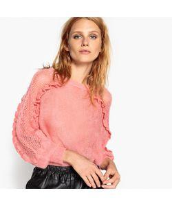 MADEMOISELLE R | Пуловер Из Мохера С Воланами На Рукавах