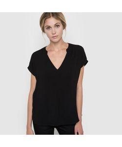 Color Block | Блузка С Короткими Рукавами И Оригинальным Орнаментом Сзади