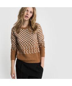 R édition | Пуловер Из Жаккарда С Волокнами С Металлическим Блеском И Круглым Вырезом