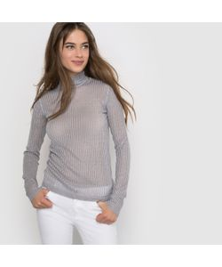 R édition | Облегающий Пуловер В Рубчик С Металлизированными Нитями