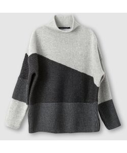 French Connection | Пуловер Patchwork Tonal Knit Ls Highnk