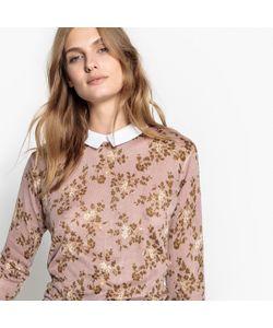MADEMOISELLE R | Пуловер С Отложным Воротником И Цветочным Рисунком