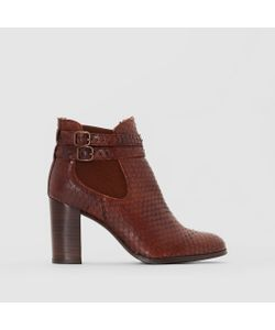 JONAK   Ботинки Кожаные На Высоком Каблуке Abria
