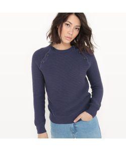 R essentiel | Пуловер С Круглым Вырезом Проймы Рукавов С Застежкой На Пуговицы