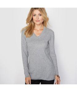 ANNE WEYBURN | Пуловер С V-Образным Вырезом 10 Шерсти