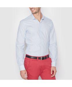 R essentiel | Рубашка В Полоску Из Поплина Узкого Покроя. Длинные Рукава