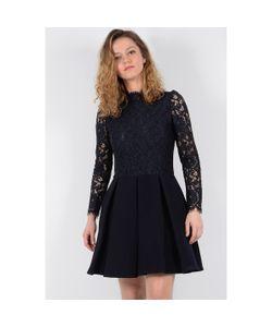 Molly Bracken | Платье Короткое Кружевное С Длинными Рукавами