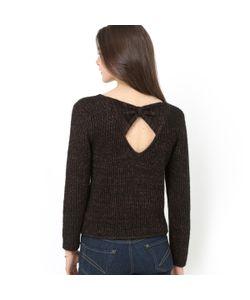 Мини-цена | Пуловер Из Трикотажа С Блеском Бант Сзади