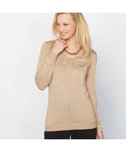 ANNE WEYBURN | Пуловер Из Блестящего Трикотажа 13 Шерсти