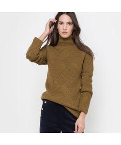 R essentiel   Пуловер С Высоким Воротником И Узором Косы