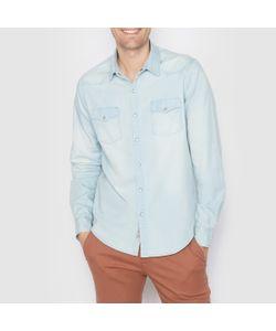 SOFT GREY | Рубашка Джинсовая Стандартного Покроя. Длинные Рукава