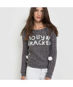 Molly Bracken | Пуловер Трикотажный С Капюшоном И Помпонами