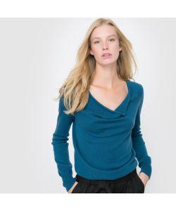 R essentiel | Пуловер С Драпировкой На Вырезе 100 Кашемира