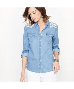 ANNE WEYBURN | Рубашка Из Струящегося Денима И Кружева