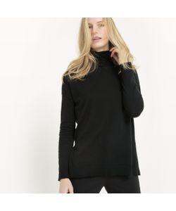 R essentiel | Пуловер С Отворачивающимся Воротником Из Хлопка/Шелка