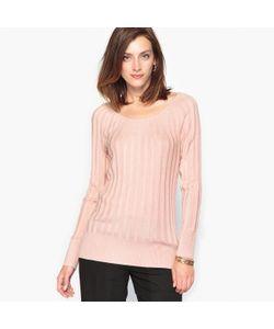 ANNE WEYBURN | Пуловер В Гламурном Стиле С Плиссировкой В Виде Солнца 10 Шерсти
