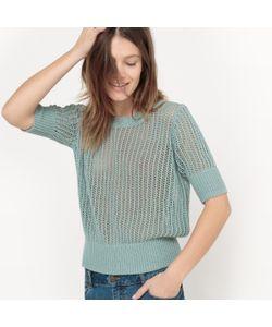 R studio | Пуловер Из Ажурного Трикотажа С Круглым Вырезом