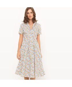 COLLECTOR X LA REDOUTE MADAME | Платье Длинное С Рисунком И Короткими Рукавами
