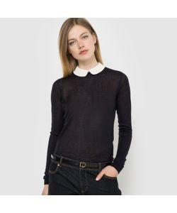 R édition | Пуловер С Отложным Закругленным Воротником И Длинными Рукавами