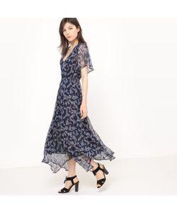 R studio | Платье Длинное С Декольте Спереди И Кашемировым Принтом