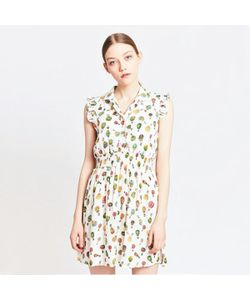 MIGLE+ME | Платье С Рисунком Рубашечный Воротник Без Рукавов