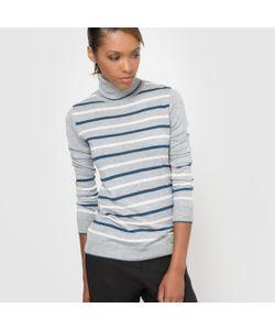 R essentiel | Пуловер В Полоску С Воротником Из Смешанной Ткани С Шерстью