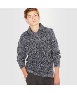 R pop | Пуловер Утепленный Оригинальной Вязки С Шалевым Воротником 10-16 Лет