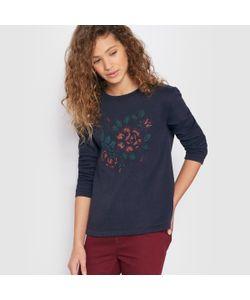 R pop   Пуловер С Вырезом Трапеция И Вышивкой В Виде Цветов 10-16 Лет