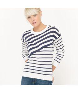 R essentiel | Пуловер С Круглым Вырезом И Рисунком В Асимметричную Полоску