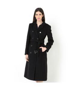 LAURA CLEMENT | Пальто Полудллинное С Поясом Из Шерстяного Велюра