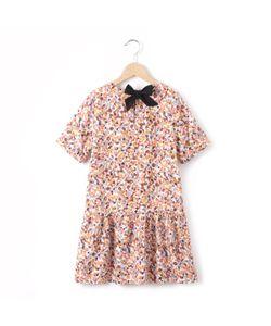 R kids | Платье С Рисунком Цветы С Бантом Сзади