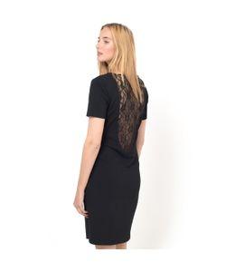 Vila | Платье С Кружевной Спинкой И Короткими Рукавами