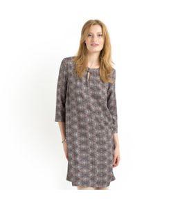 SOFT GREY | Платье Прямое С Рисунком