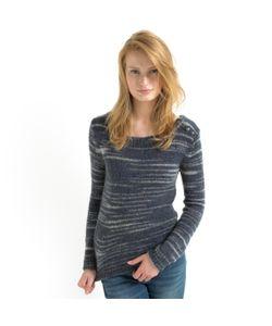 SOFT GREY | Пуловер В Полоску С Пуговицами