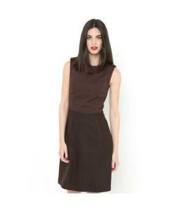 LAURA CLEMENT | Платье Без Рукавов Из Двух Материалов