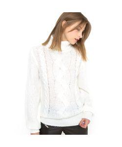 Мини-цена | Пуловер С Высоким Воротником И Узором Косы