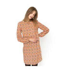 Мини-цена | Платье С Рисунком И Длинными Рукавами