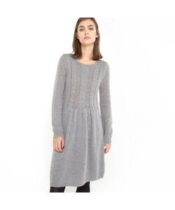 R essentiel   Платье Из Трикотажа С Узором Косы Спереди