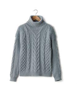 SOFT GREY | Пуловер С Воротником-Стойкой