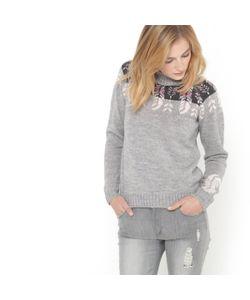 SOFT GREY | Пуловер-Водолазка С Жаккардовым Рисунком