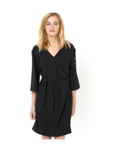 SOFT GREY | Платье-Кимоно С Вышивкой