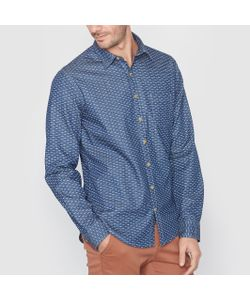 SOFT GREY | Рубашка Джинсовая Стандартного Покроя С Рисунком