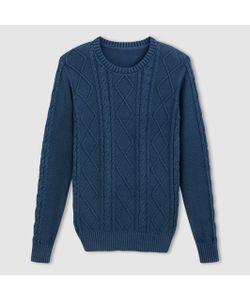 SOFT GREY | Пуловер С Витым Узором И Круглым Вырезом
