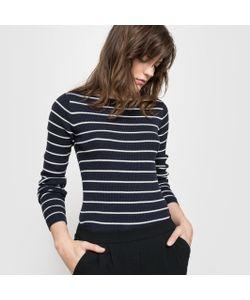 R essentiel | Пуловер В Полоску Из Вискозы И Хлопка С Круглым Вырезом