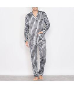R essentiel | Пижама Из Атласа В Полоску С Длинными Рукавами
