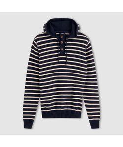 R essentiel | Пуловер В Полоску С Капюшоном 100 Хлопка